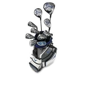 multiple strata golf clubs in a miniature golf bag