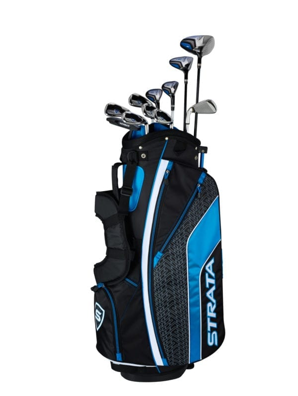 multiple strata golf clubs in a golfbag