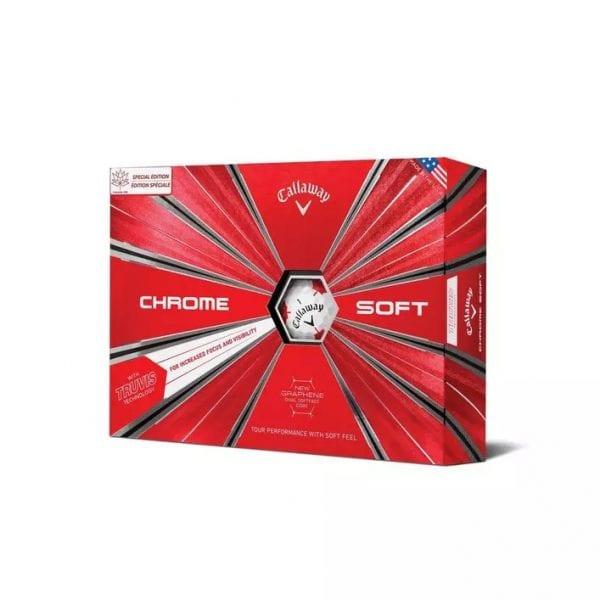 Chrome Soft Truvis Golf Balls - Maple Leaf Edition