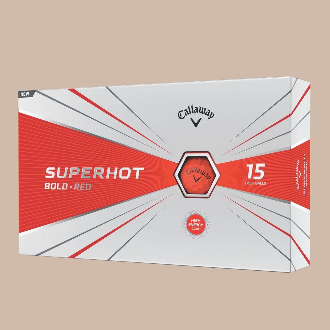 Callaway superhot bold red golf balls
