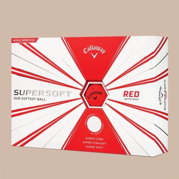 callaway super soft matte red golf balls