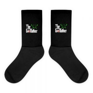 The Golfather Black Foot Sublimated Socks