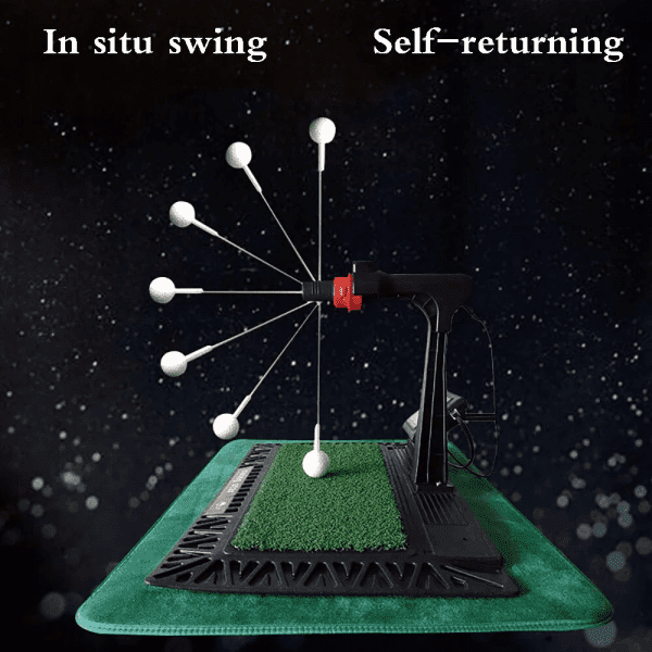 Indoor Digital Swing Practice Golf Swing Exerciser Trainer With English Panel Digital Screen Amp Auxiliary Voice 1