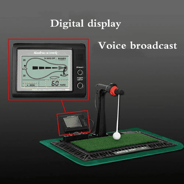 Indoor Digital Swing Practice Golf Swing Exerciser Trainer With English Panel Digital Screen Amp Auxiliary Voice